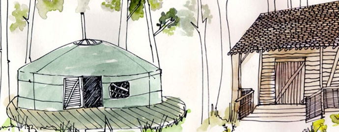 Woodland Shacks, Meadow Yurts and a well equipped Bunkbarn in Masham, Yorkshire | The Bivouac