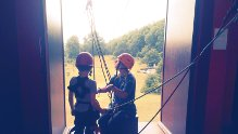 Getting ready for the zip wire